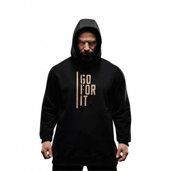 Bluza męska z kapturem Olimp - Men Hoodie Gold Series Black