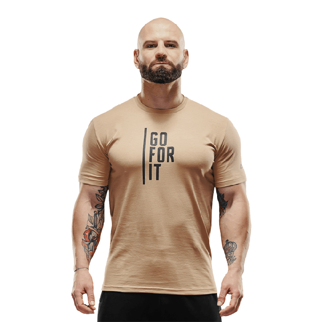 Męska koszulka Olimp - Men T-Shirt Gold Series Beige